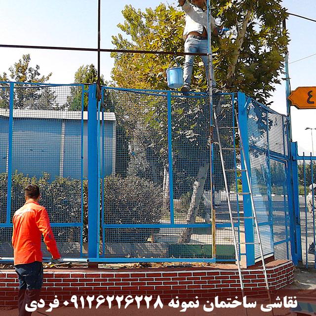 رنگ آمیزی سازه های بنر - مصلی تهران